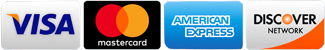 we accept visa mastercard american express discover card